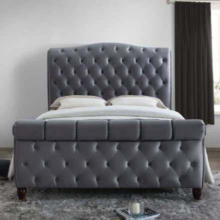 Colorado Grey Fabric Super King Sized Bed